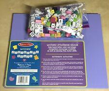 Melissa & Doug Wooden Stringing Beads Craft Bead Set #3774  Toys Educational 4+