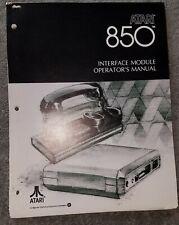 1980 Atari 400 / 800 Interface Module 850 Operator's Manual