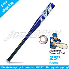 "Blue 25"" 63cm Aluminium Baseball Bat Racket Softball Outdoor Sports -Brand New"