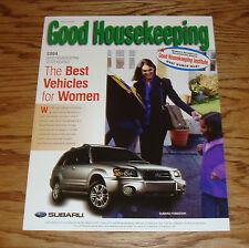 2004 Subaru Forester Good Housekeeping Sales Sheet Brochure 04