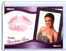 TNA Roxxi 2009 Knockouts Authentic BLUE Kiss Card SN 21 of 25