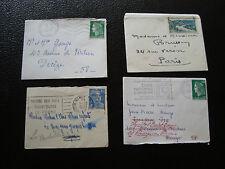 FRANCE - 4 petites enveloppes (cy67) french