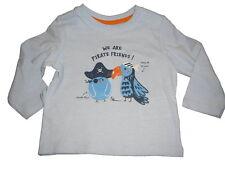 NEU Dopodopo tolles Langarm Shirt Gr. 62 hellblau Piraten Vogel Motiven !