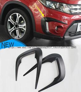 For Suzuki Vitara Escudo 2015 2016 2017 2pcs Front Fog eyebrow Lamp Cover Trim