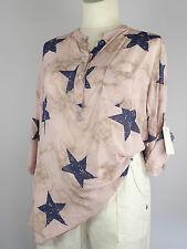 Bluse Tunika Gr. 48 50 52 Big size Lagenlook one size rosa blau Sterne Star
