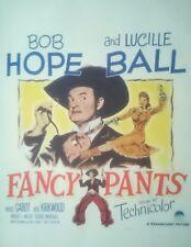 Original US  1950  Lucille Ball  Bob Hope  WINDOW CARD MOVIE POSTER  Fancy Pants