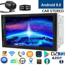 Quad Core Android9.0 Car Stereo Head Unit GPS Nav Radio 2Din 7 Inch HD 1080P+CAM