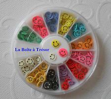 Nail Art - Carrousel pour la Décoration des Ongles Smiley Multicolore
