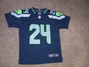 Seattle Seahawks MARSHAWN LYNCH Nike On Field Football Jersey youth Medium
