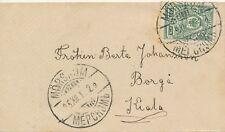 """FINNLAND 1912 5 P Russisches Staatswappen EF Damenbriefchen  """"MÖRSKOM"""" ZENSUR"""