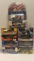 NINE RCCA ACTION 1/64 NASCAR DIECAST. PROMOTIONAL TRACK CARS. DAYTONA AND NHMS.