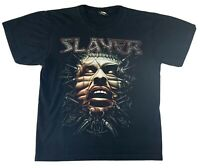 Slayer T Shirt Tour Stretched Face ROCK CHANG Thrash Metal Band Large CLEAN