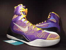 Nike Zoom KOBE IX 9 ELITE SHOWTIME LAKER PURPLE GOLD ORANGE GREY 630847-500 11