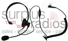 Boom Mic Headset Motorola CP200 PR400 P1225 BPR40 CT250 CP185 CP200D CP110