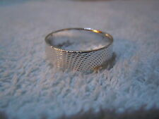 NEW PURE SILVER .999 BULLION SZ91/2 MENS RING MADE BY ANARCHY P.M. JEWELRY #90
