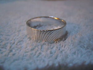 NEW PURE SILVER .999 BULLION SZ91/2 MENS RING HAND MADE BY ANARCHY JEWELRY #A4S2