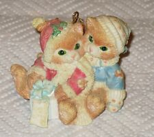 L@K Calico Kittens Couple Christmas Ornament