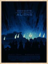 COWBOYS AND ALIENS | DANIEL DANGER | WOOD VARIANT | MONDO PRINTS