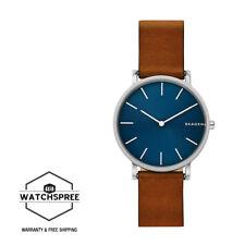 Skagen Men's Hagen Slim Brown Leather Strap Watch SKW6446