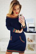 US Women Casual Dress New Loose Fashion Blouse Cotton Blouse Long Sleeve Dress