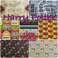 Harry Potter Fabric Gryffindor Dumbledore Hogwarts Magic 100% Cotton Patchwork