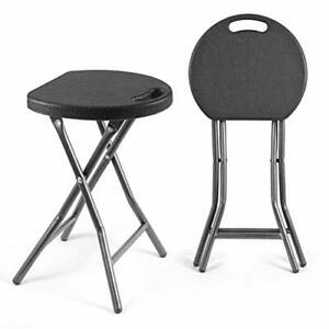 Folding Stools,Set of Two,Light Weight Metal and Plastic Foldable