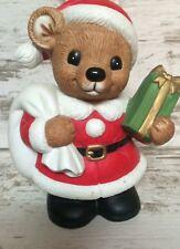 Homco Home Interiors Christmas Bear Figurine Piggy Bank