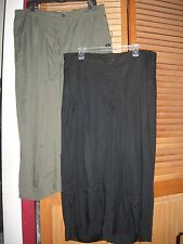 c3c92777f9833 Lane Bryant Womens Pants 18 20 Crop Pleated Career Wide Leg Black Guacho