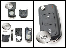 Fits  VW Transporter T5 Polo GOLF 2 Button Remote Key FOB case + CR2032 battery