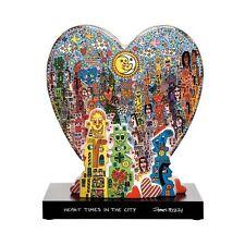 """James Rizzi: Skulptur Figur """"HEART TIMES"""", limitiert, Goebel Porzellan, neu 2018"""