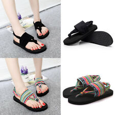 Womens Lady Summer Bohemian Cloth Flat Beach Flip-flops Slippers Shoes Sa Dyxl