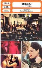 FICHE CINEMA : STUDIO 54 - Phillippe,Hayek,Ward,Myers,Campbell,Christopher 1998