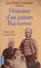 MEMOIRES D'UN PAYSAN BAS-BRETON JEAN-MARIE DEGUIGNET (1834-1905)