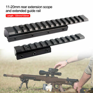 Tactical Dovetail Weaver Picatinny Rail Adapter 11mm to 20mm Scope Mount Extend