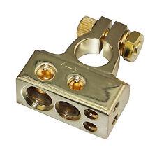 Gold Plated 1X2 Awg 1X4Ga 2X8Ga Battery Terminal Car Battery Post Skbt-051G-