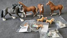 Schleich Farm World lot Dachshund Schnauzer Horse lot Animal toy Morgan Shire