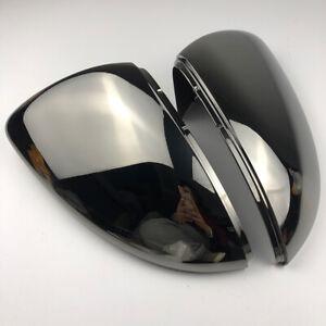 Gloss Black Wing Mirror Cover Caps Casing For VW Golf Mk7 Mk7.5 R GTI 2013-2018