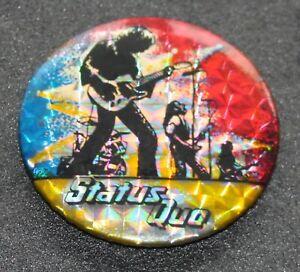 Status Quo 1970's Original 55mm  Rock Metallic Pin Badge