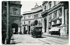Napoli Italy - VIA SAN CARLO - Postcard Trolley Naples