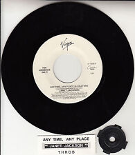 "JANET JACKSON Any Time, Any Place (R. Kelly Mix) 7"" 45 rpm record RARE!"