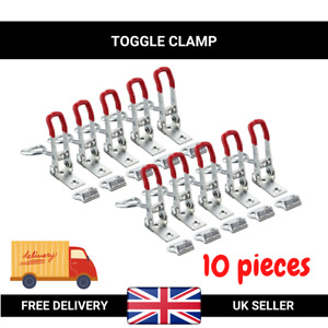 Toggle Clamp Hand Tool Quick Holding Latch - 10Pcs (Capacity: 100 kg 220 lbs)