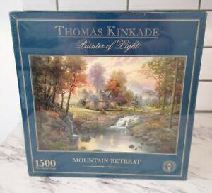 Thomas Kinkade 1500 Piece Gibson Jigsaw Puzzle - Mountain Retreat New&Sealed
