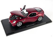 Blitz envío Alfa Romeo 8c Competizione rojo red Welly modelo auto 1:18 nuevo embalaje original