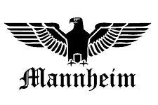 Reichsadler Mannheim Auto Aufkleber Sticker Schrift Adler Deutschland shocker