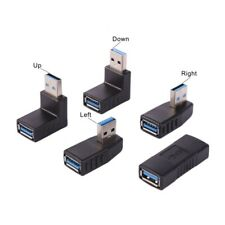 5pcs Pack USB 3.0 A Male to A Female Converter Adapter 90 Degree Angle Plug