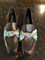 Jeffrey Campbell MSRP $178 leather Bollero Scarf Loafers size 8 NWOB