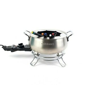 Cuisinart CFO-3SS Electric Fondue Maker Pot Brushed Stainless 3 Quart, 7 Forks