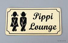 Pippi Lounge,Türschild,WC Schild,Damen,Herren,Toilettenschild,10 x 5 cm,Schild