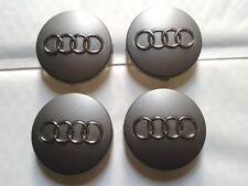 4 Logo Audi Cache Moyeu Gris Jante Centre De Roue 60mm Emblème Insigne