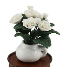Fine 1:12 Scale Miniature Lovely White Gorgeous Flower for Dollhouse